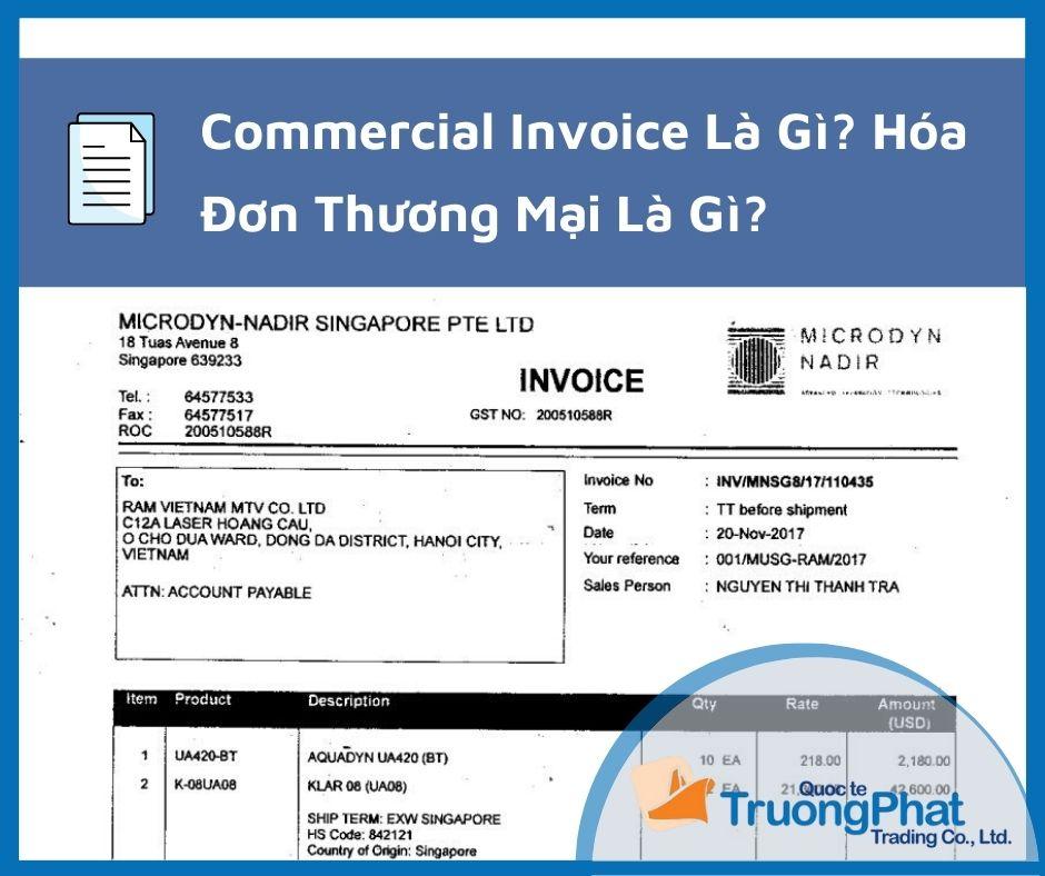 Commercial Invoice Là Gì? Hóa Đơn Thương Mại Là Gì?